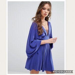 NWT Free People Kimono Tie Up Mini Dress
